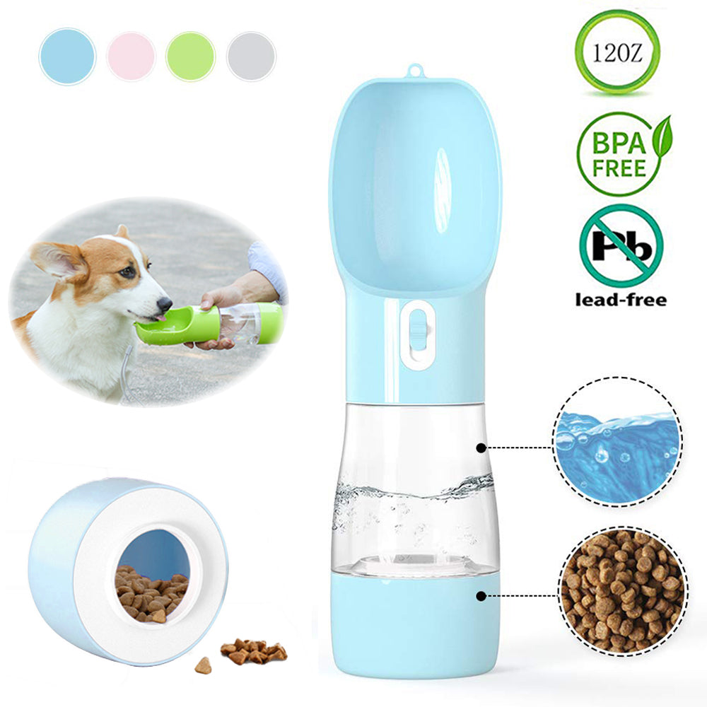 Portable Pet Water Bottle and Feeder Bowl
