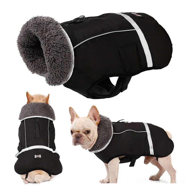 Waterproof Adjustable Thick Warm Dog Coat