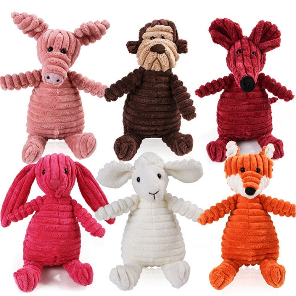 Cute Plush Animals Squeaky Chew Toy