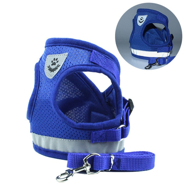 Reflective  Adjustable Vest Harness for Small-Medium Dog