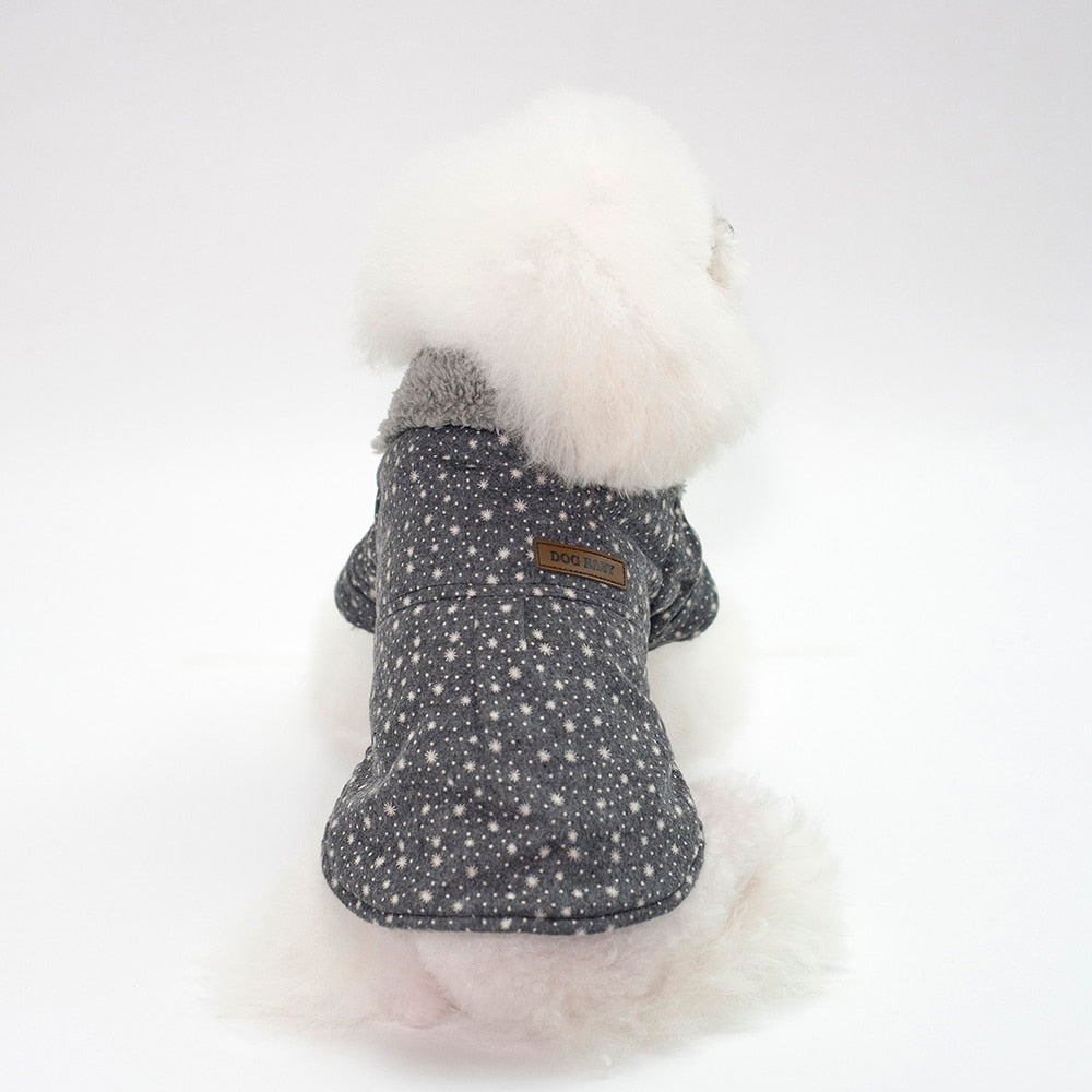 Polka Dot Winter Dog Jacket