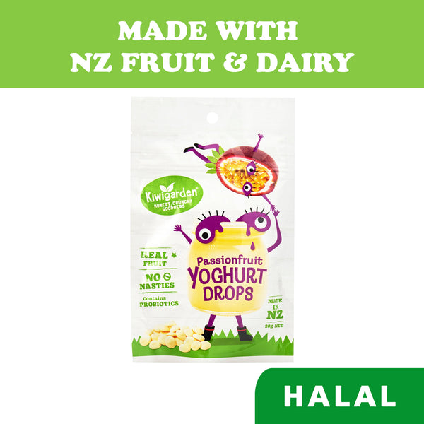 Kiwigarden Freeze Dried Baby Snacks Passionfruit Yoghurt Drops