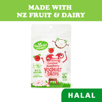 Kiwigarden Freeze Dried Baby Snacks Raspberry  Coconut Yoghurt Drops