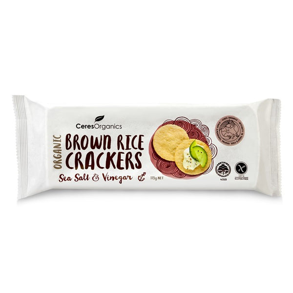 Ceres Organics Brown Rice Crackers Sea Salt & Vinegar