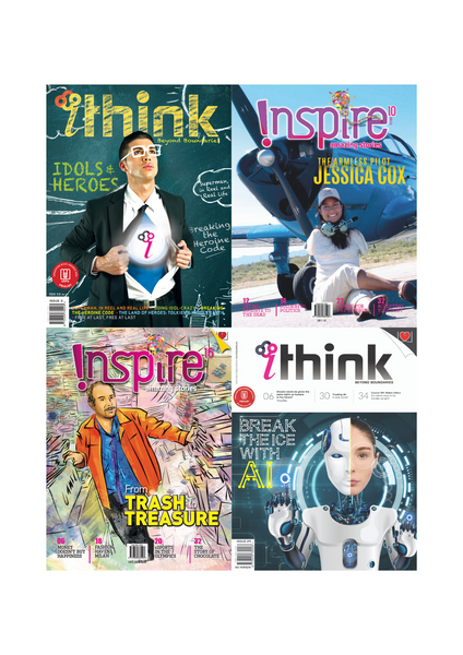 [Combo B]  Inspire Magazine (13+ y/o) and iThink Magazine (15+ y/o): 4 single issues
