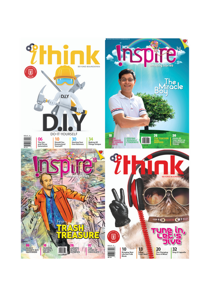 [Combo F]  Inspire Magazine (13+ y/o) and iThink Magazine (15+ y/o): 4 single issues