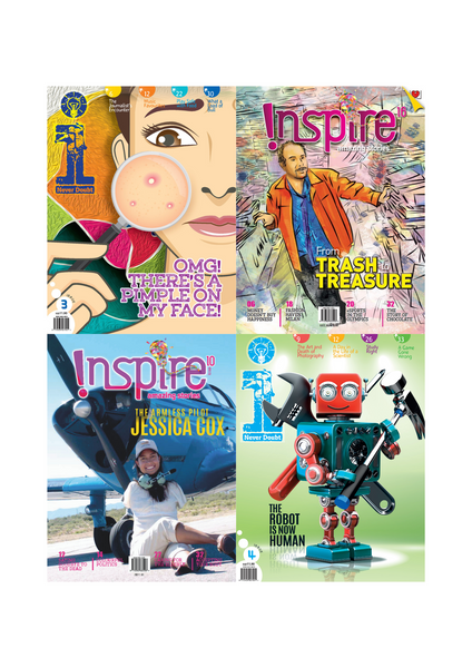 [Combo C]  i Magazine (10+ y/o) and Inspire Magazine (13+ y/o) 4 single issues