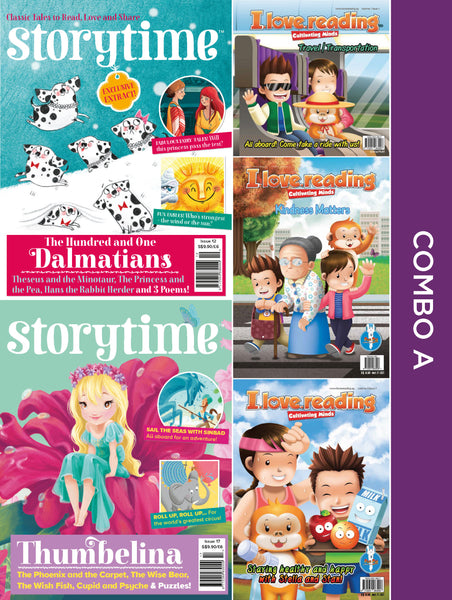 Storytime and iLoveReading Series Combo A: 5 issues (for 6+ y/o)