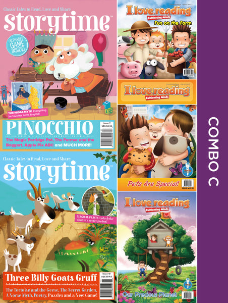 Storytime and iLoveReading Series Combo C: 5 issues (for 6+ y/o)