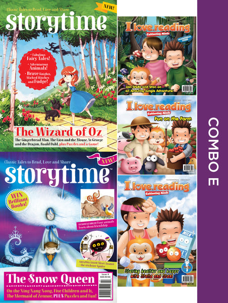 Storytime and iLoveReading Series Combo E: 5 issues (for 6+ y/o)