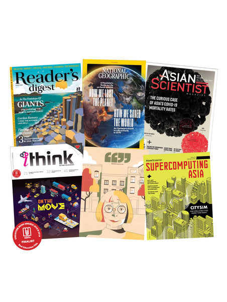 Bundle Promotion - iTHINK , Broader Perspective, Reader's Digest, National Geographic, Asian Scientist & Super Computing Asia