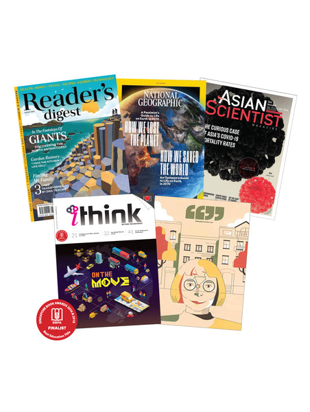 Bundle Promotion - iTHINK , Reader's Digest, National Geographic, Asian Scientist & Broader Perspective