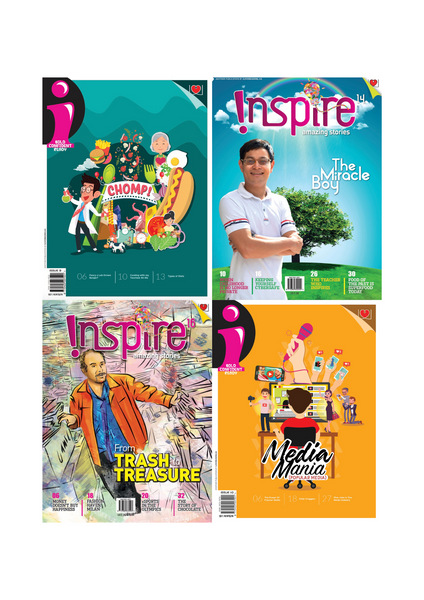 [Combo A]  i Magazine (10+ y/o) and Inspire Magazine (13+ y/o) 4 single issues