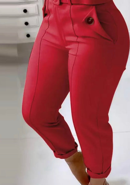 Skinny High Waist Work Pants