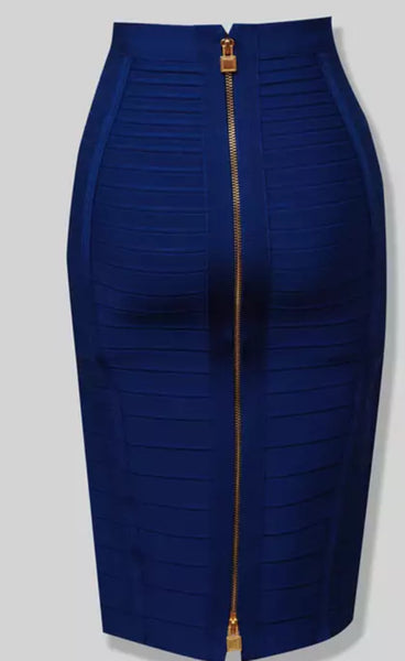 Zipper Bandage Pencil Style Skirt (Pre-Order)