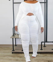 Casual Long Sleeve 2 Piece Pants Set (Pre-order)