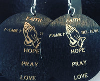 Faith, Family, Believe, Hope, Pray, and Love Earrings