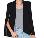 Black Split Sleeve Jacket