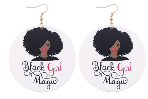 """Black Girl Magic"" Earrings"