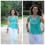 Sleeveless Blue/Green Shirt