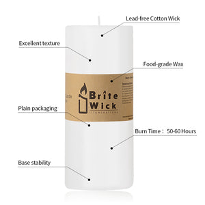 FANTASTIC :)  3-INCH High Quality Pillar Candle,25-90 Hours Burn Time,Single Seal Package