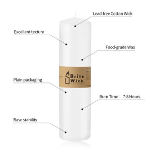 FANTASTIC :)  2-INCH Doom Top Pillar Candle,4-8 Hours Burn Time,Single Seal Package