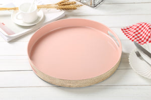 FANTASTIC :)  Round Plastic Serving Tray with Matte Finish, Round Plain Design