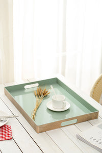 FANTASTIC :) Rectangle Classic Plastic Serving Tray with Matte Finish, Rectangle Straight Design