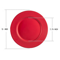 Load image into Gallery viewer, Fantastic® 13-Inch Round Plastic Charger Plates Powder Coating Finish, Plain Pattern