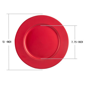 Fantastic® 13-Inch Round Plastic Charger Plates Powder Coating Finish, Plain Pattern
