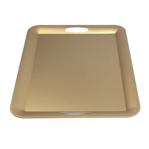 FANTASTIC :) Rectangle Plastic Serving Tray with Matte Finish, Rectangle Thin Plain Design