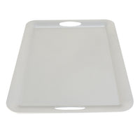 Load image into Gallery viewer, FANTASTIC :) Rectangle Plastic Serving Tray with Matte Finish, Rectangle Thin Plain Design
