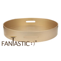 Load image into Gallery viewer, FANTASTIC :)  Round Plastic Serving Tray with Matte Finish, Round Plain Design