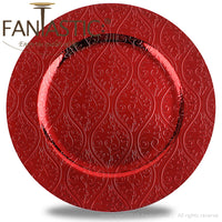 Load image into Gallery viewer, Fantastic® 13-Inch Round Plastic Charger Plates Shiny Finish, Moslem Pattern