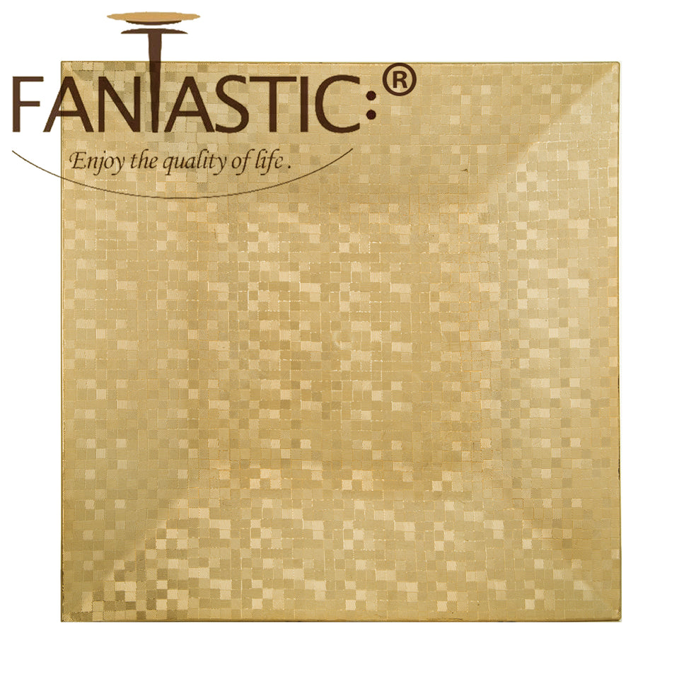 Fantastic® 13-Inch Square Plastic Charger Plates Shiny Finish, Mosaic Pattern