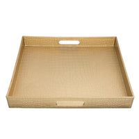 Load image into Gallery viewer, FANTASTIC :)  Square Plastic Serving Tray with Matte Finish, Square Alligator Design