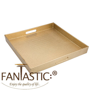 FANTASTIC :)  Square Plastic Serving Tray with Matte Finish, Square Alligator Design