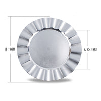 Load image into Gallery viewer, Fantastic® 13-Inch Round Plastic Charger Plates Shiny Finish, Wave Edge Pattern