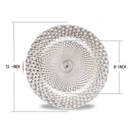 Load image into Gallery viewer, Fantastic® 13-Inch Round Plastic Charger Plates Shiny Finish, Peacock Pattern