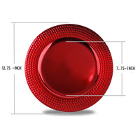 Load image into Gallery viewer, Fantastic® 13-Inch Round Plastic Charger Plates Metallic Finish, Hammer Edge Pattern
