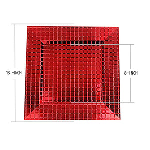Fantastic® 13-Inch Square Plastic Charger Plates Shiny Finish, Grid Pattern