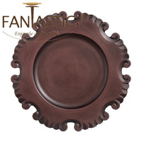 Load image into Gallery viewer, Fantastic® 13-Inch Round Plastic Charger Plates Antique brushed Finish, 100% Hand Make