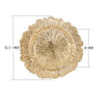 Load image into Gallery viewer, Fantastic® 13-Inch Round Plastic Charger Plates Shiny Finish, Reef Pattern