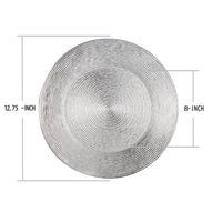 Load image into Gallery viewer, Fantastic® 13-Inch Round Plastic Charger Plates Shiny Finish, Circle Pattern