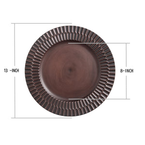 Fantastic® 13-Inch Round Plastic Charger Plates Antique brushed Finish, 100% Hand Make
