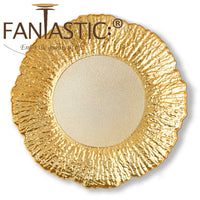 Load image into Gallery viewer, Fantastic® 13-Inch Round Plastic Charger Plates Shiny Finish, Flower Pattern