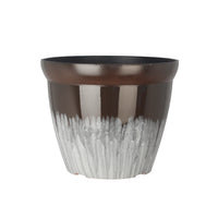Load image into Gallery viewer, FANTASTIC :) 11-INCH Round Drum Shape Decorative Plastic Planters ,Glaze Shiny Finish