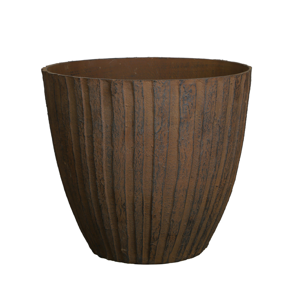 FANTASTIC :) 13.5-INCH Round Shape Decorative Plastic Planters, Sand Rust Finish