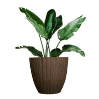 Load image into Gallery viewer, FANTASTIC :) 13.5-INCH Round Shape Decorative Plastic Planters, Sand Rust Finish