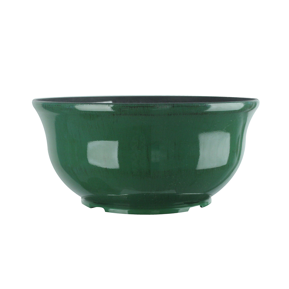 FANTASTIC :) 13.5-INCH Low Bowl Shape Decorative Plastic Planters, Antique Finish